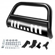 "AUTOSAVER88 Bull Bar for 05-15 Toyota Tacoma 3"" Tube S/S Brush Push Front Bumper Grille Guard Q235A"